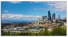 Seattle Landscape (Chad McDonald) Tags: seattle detail field skyline architecture photoshop canon buildings landscape eos washington high downtown dynamic chad district pano hill panoramic international adobe wa seahawks quest range beacon hdr mcdonald xsi topaz skyscrapper cs4 photomatix 450d