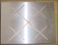 Underside View of Phosphorus Bronze Slide Plate