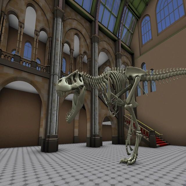 Skeleton in a building