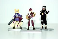 Gaara, Temari, & Kankuro (BAM Photography) Tags: set toy candy blind box 7 mini part trading figure naruto garra gaara temari shokugan kankuro