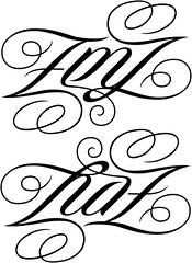 """EMZ"" & ""RAZ"" Ambigram"