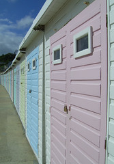 Ice cream beach huts