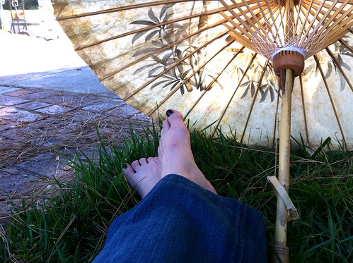 Two Feet and a Parasol