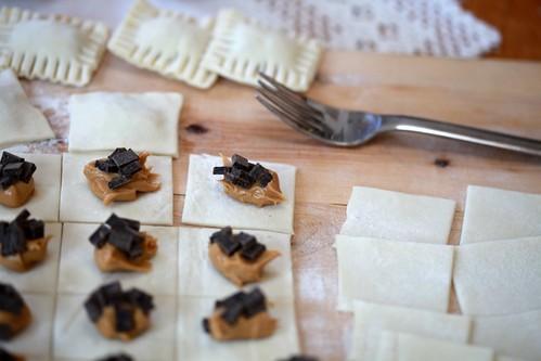 Peanut Butter Chocolate Pillows Recipe — Dishmaps