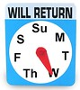 Will Return Wed Sign
