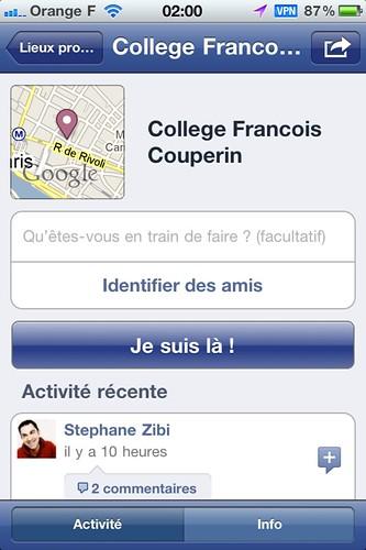 Facebook Places les premières impressions