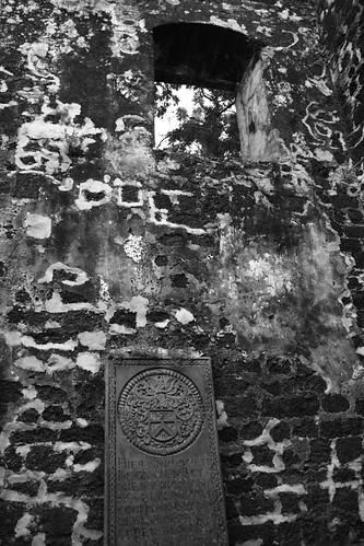 Tombstones in St Paul Church, Melaka Malaysia