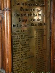 St Clement Norwich - The Great War fallen  - 1