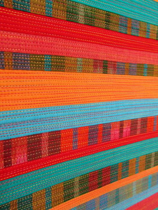Color Weave no.2 - Art Quilt - Detail