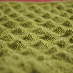 Shetland Triangle - pre-blocking
