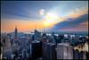Sunset from the Top of the Rock in New York City (RBudhu) Tags: newyorkcity rockefellercenter timessquare hudsonriver empirestatebuilding artdeco gothamist topoftherock 30rock bankofamericatower midtownskyline newyorkcitysunset midtownsunset midtownmanhattanskyline empirestateofmind