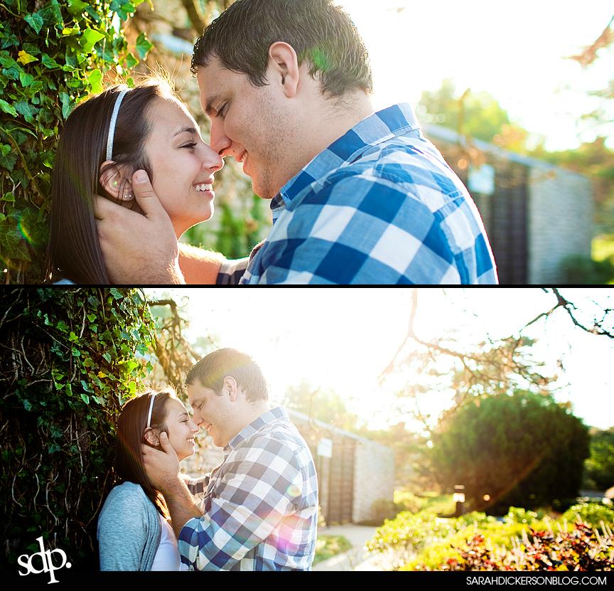 Loose Park Kansas City Missouri engagement photography