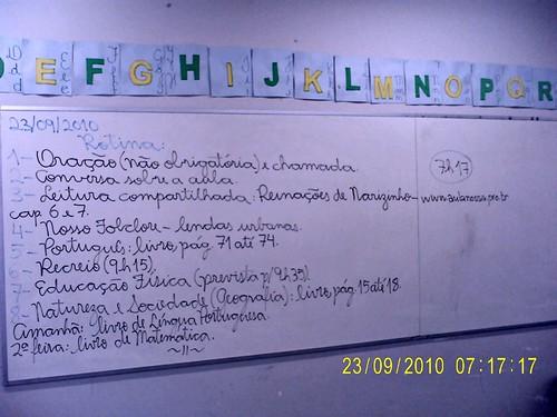 Rotina Prevista - 23/09/2010