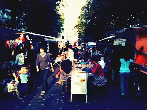 Bio Markt am Kollwitz Platz. Prenzlberg.