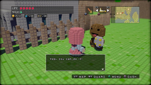 3d dot game heroes let there be sackboy playstation blog