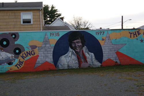 Elvis Mural, Newton MA