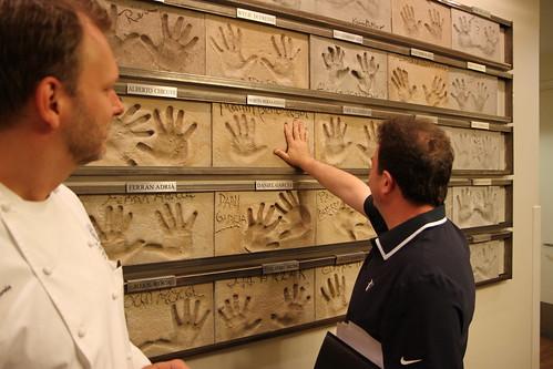 Chef Martin Berasategui's handprints