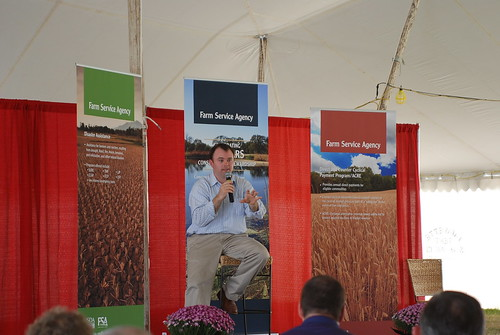 FSA Administrator Jonathan Coppess highlights USDA's farm programs during the Farm Science Review held this week in London, Ohio.