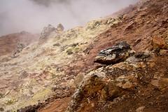 burning rocks. (kriechstrom) Tags: red rot island iceland rocks stones steine felsen landmannalaugar brennisteinsalda