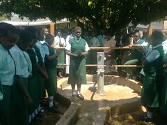 Emalindi Girls Sec.School-Head Girl giving vote of thanks on behalf of students during hand over ceremony