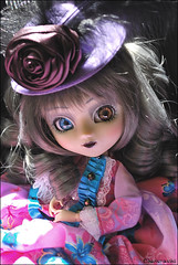 Athénaïs (* Charismatchii *) Tags: pink black rose grey gris nikon noir wig pullip custom custo d60 leeke junplanning mimina leekeworld rewigged athénaïs fullcustom fullcusto charismatchii leraminagrobis