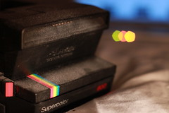 A dusty Polaroid camera with a flair for bokeh