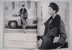 Jean Patou-Christian Dior (Classic Style of Fashion (Third)) Tags: 1955 1950s dior 1950sfashion vintagefashion vintagemagazine frenchvogue jeanpatou