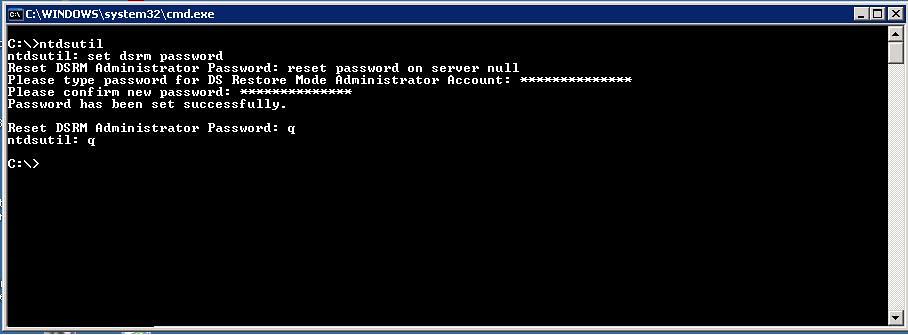 reset-directory-service-restore-mode-password-ntdsutil