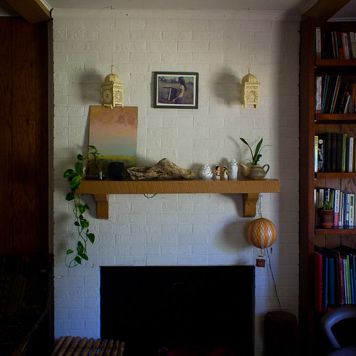 Fireplace in the Den.