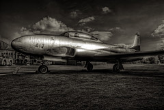 Lockheed Canadair Silver Star T133 (Chris McLoughlin) Tags: uk england 1855mm hdr yorkshireairmuseum jetaircraft sonyalphaa300 chrismcloughlin lockheedcanadairsilverstart133