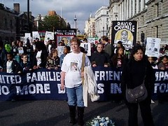 Families march to 10 Downing Street