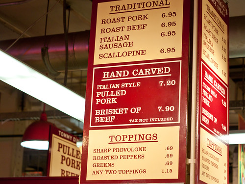 DiNic's menu