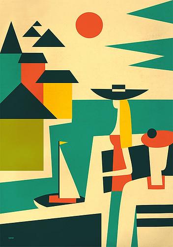 10 плакатов для мартини.  Art-director: Eric Jones.