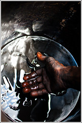 The undeserving dreamer [..Narayanganj, Bangladesh..] (Catch the dream) Tags: life light reflection metal bucket junk hand metallic garage fingers palm dirt oil worker ripples liquid liquidlight gleaming hardlife motoroil tarpin cleaningliquid cleaningmotorvehicles gettyimagesbangladeshq2
