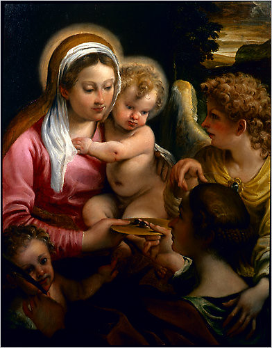 Virgin and Child with Saint Lucy and the Young Saint John the Baptist, circa 1587–88, Annibale Carracci