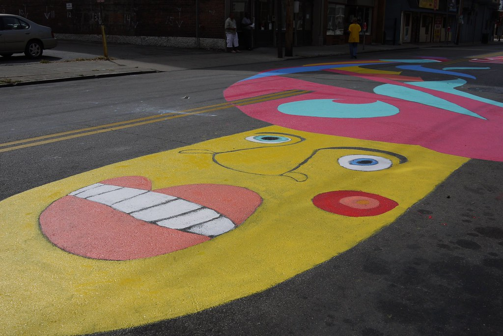 Painting the Street in Cincinnati