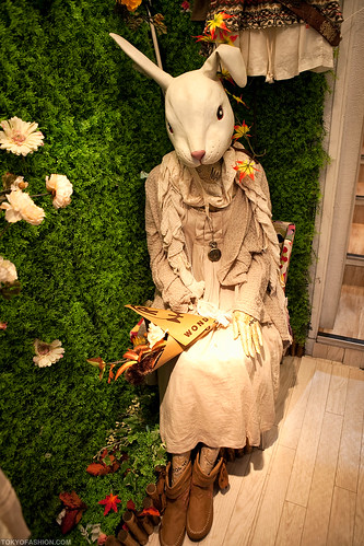 Japanese Mori (Rabbit) Girl in Harajuku