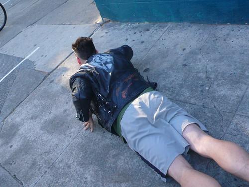 we left him crawling