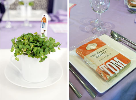 Novel ideas for place settings by Lucky Dips and Little People