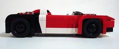Suzuki GSX R/4 (Lino M) Tags: 2001 red white black car japan japanese lego engine motorcycle suzuki concept build martins challenge lino racer lugnuts hayabusa biginjapan suzukigsxr4