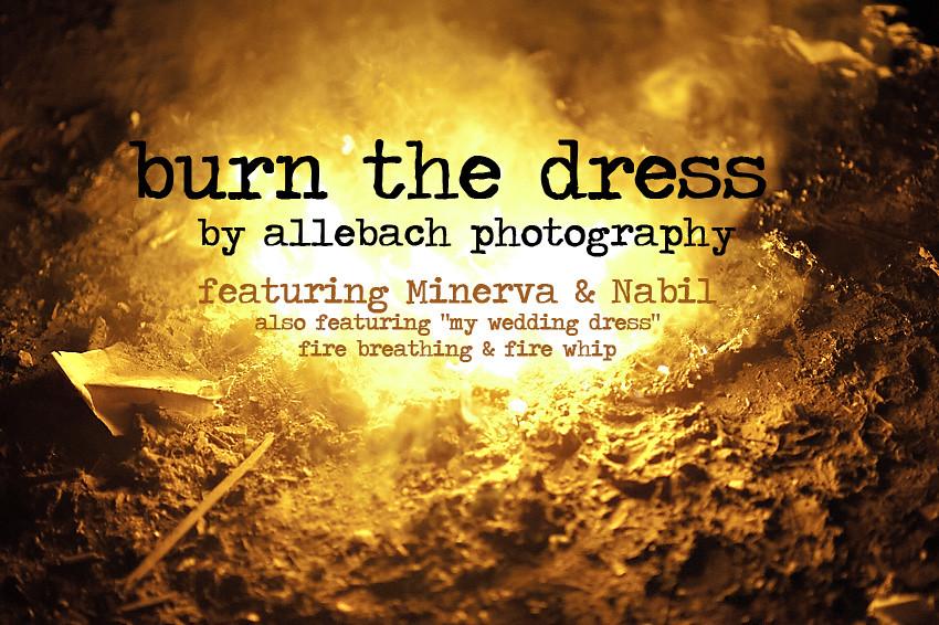 Burn the Dress - Trash the Dress