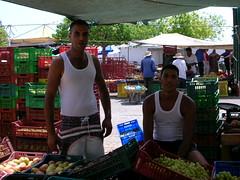 Open market sellers/ Tunisia (d.mavro) Tags: bon man sexy open market tunisia cap arab seller tunisian