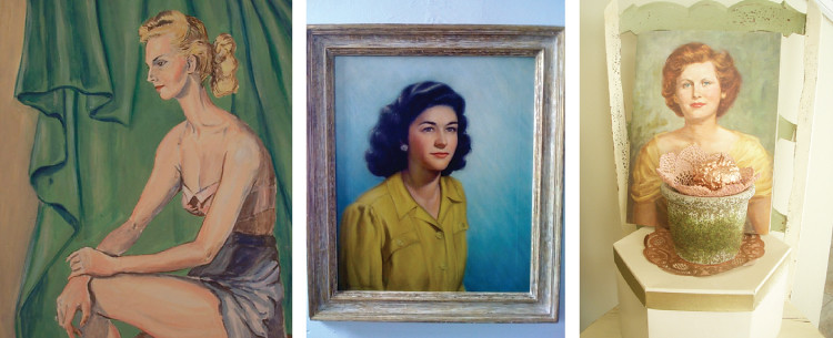 Vintage Oil Portraits