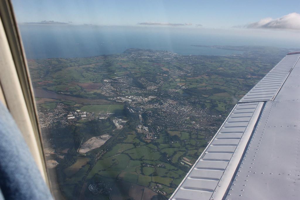 Flying over Newton Abbot