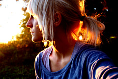 Let it eat you away (Chantel Baggley) Tags: sunset me blondehair chantel blueshirt ilovephotography meaningful femaleportrait seriousface imsohappy canonlover summertones messyponytail baggley canonrebelxsi chantelbaggley letiteatyouaway