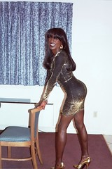 Lurex Dress (darlene362538) Tags: beautiful pretty dress cross african fine transgender booty american transsexual