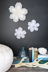 doily-star (the happy home) Tags: project diy doily paperdecoration blackwall partydecoration