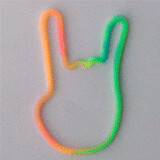 Shaped rubber bands: yeah pose mix