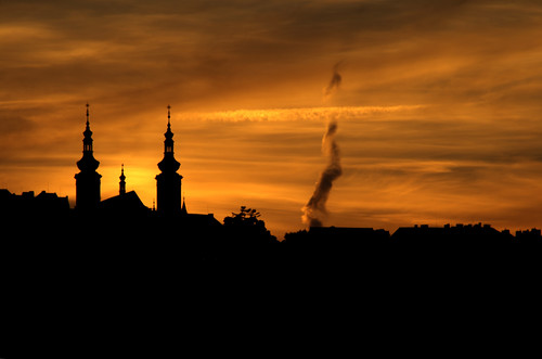 Sunset at Prague. Atardecer en Praga