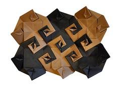 Uzu Mat (rebecccaravelry) Tags: origami modular tessellation kawasaki toshikazukawasaki